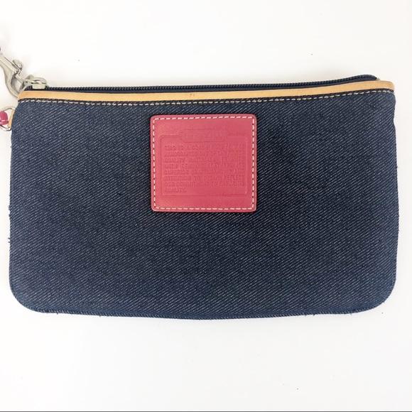 Coach Handbags - Vintage Denim Coach Hampton Wristlet
